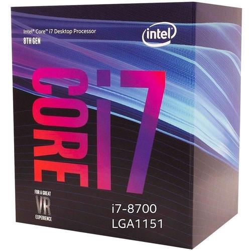 processador i7 8 geração 8700k lga 1151 turbo 4,7 mhz coffee lake