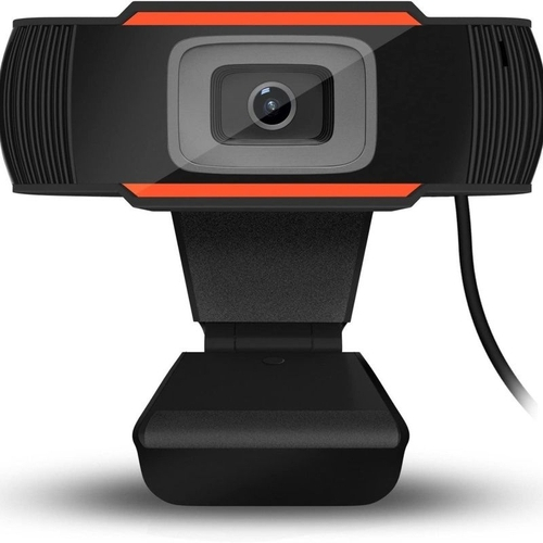 webcam preto laranja